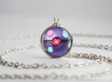 Pokemon Sableye Themed Pokeball Pendant