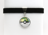 PKMN Pokeball Choker Necklaces