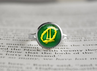 Sailor Moon Sailor Jupiter Laurel Symbol silver ring