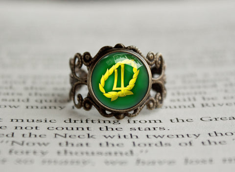 Sailor Moon Sailor Jupiter Laurel Symbol antique style ring