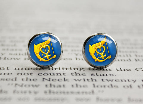 Sailor Moon Sailor Mercury Harp Henshin Symbol earrings