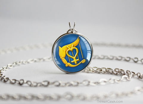 Sailor Moon Sailor Mercury Harp symbol pendant