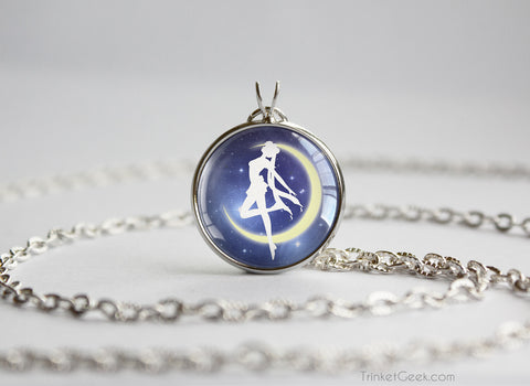 Sailor Moon Silhouette Starry Night pendant