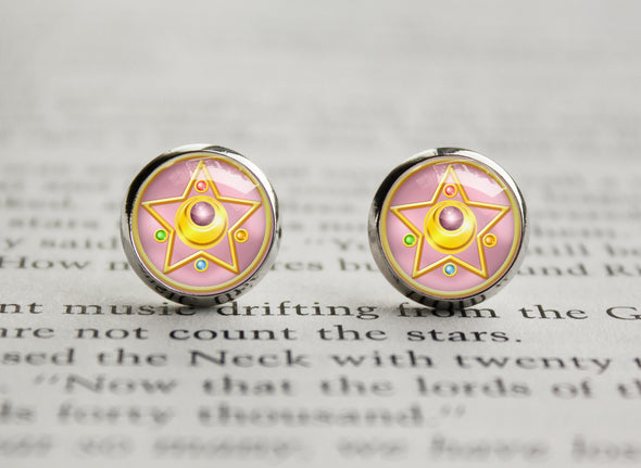 Sailor Moon Crystal Star Compact Henshin Symbol earrings