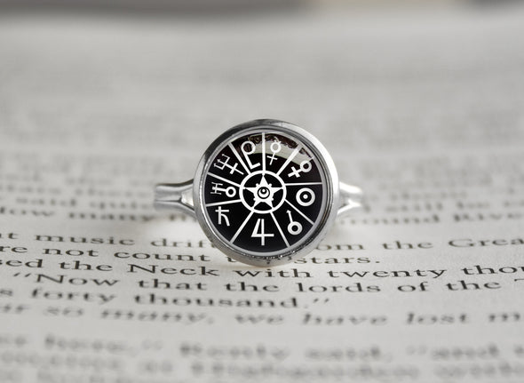 Sailor Moon silver ring Symbols