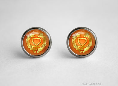 Sailor Moon Sailor Venus Henshin Symbol earrings