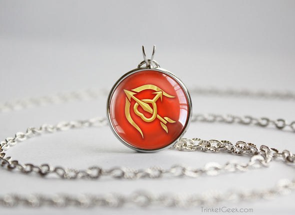 Sailor Moon Sailor Mars Arrow and bow symbol pendant
