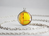 Super Smash Ball Samus necklace