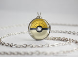 Pokemon Sandshrew Themed Pokeball Pendant