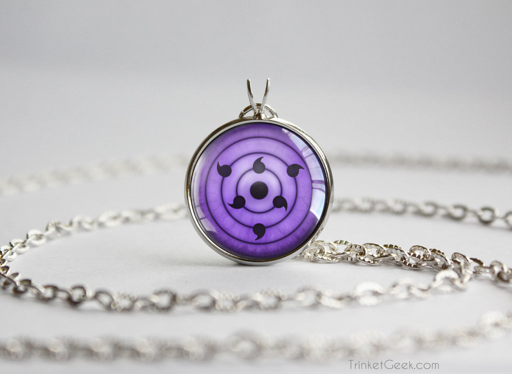 Naruto Sasuke Rinnegan pendant Necklace