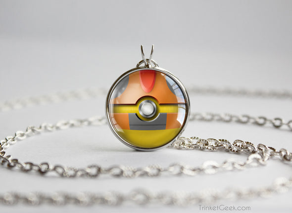 Pokemon Scrafty Themed Pokeball Pendant