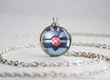 Pokemon Gold and Shadow Lugia Pokeball Necklace