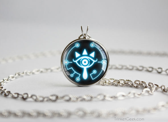 Zelda Sheikah Slate Eye Symbol necklace