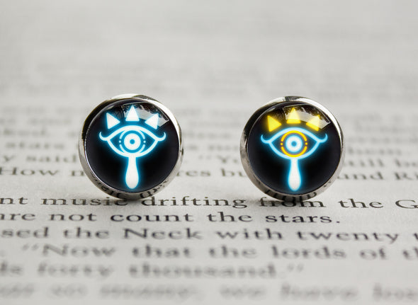 Zelda Earrings Sheikah Slate Eye Symbol