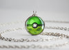 Shiny Pokemon Bulbasaur Themed Pokeball Pendant Necklace