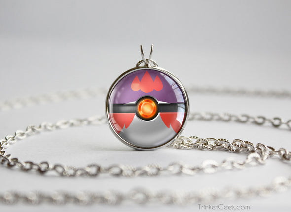 Shiny Delphox Pokemon Kalos Starter Themed Pokeball pendant
