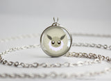 Eevee Pokemon shiny Eeveelution Chibi Portrait necklace