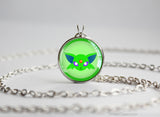 Espeon Pokemon shiny Eeveelution Chibi Portrait necklace