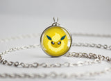 Flareon Pokemon shiny Eeveelution Chibi Portrait necklace