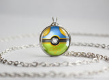 Pokemon Shiny Flygon Themed Pokeball necklace pendant