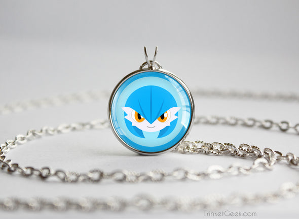 Gardevoir Shiny Pokemon Chibi Portrait necklace