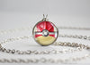Pokemon Shiny Gyarados Themed Pokeball necklace pendant