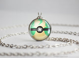 Pokemon Shiny Leafeon Eeveelution Pokeball Pendant Necklace