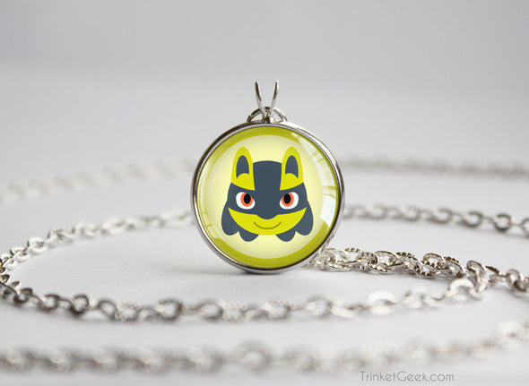 Lucario Shiny Pokemon Chibi Portrait necklace