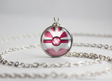 Pokemon Gold and Silver Shiny Lugia Pokeball Necklace