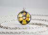 Pokemon Shiny Luxray Themed Pokeball necklace pendant