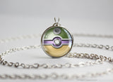 Pokemon Shiny Mega Blastoise Themed Pokeball Pendant Necklace