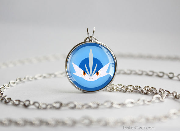 Gallade Shiny Mega Pokemon Chibi Portrait necklace