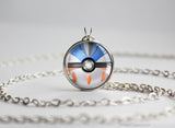 Pokemon Shiny Mega Gallade Themed Pokeball necklace pendant