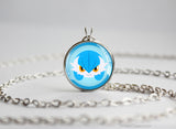 Gardevoir Shiny Mega Pokemon Chibi Portrait necklace