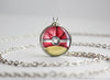 Pokemon Shiny Mega Gyarados Themed Pokeball necklace pendant