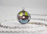 Pokemon Shiny Mega Lucario Themed Pokeball necklace pendant
