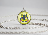 Lucario Shiny Mega Pokemon Chibi Portrait necklace