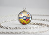 Pokemon Shiny Milotic Themed Pokeball necklace pendant