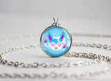 Sylveon Pokemon shiny Eeveelution Chibi Portrait necklace