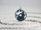 Pokemon Shiny Umbreon Eeveelution Pokeball Pendant Necklace