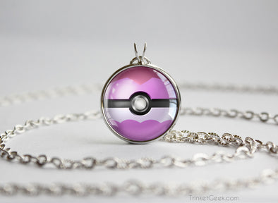Pokemon Shiny Vaporeon Eeveelution Pokeball Pendant Necklace