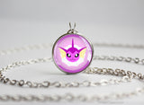 Vaporeon Pokemon shiny Eeveelution Chibi Portrait necklace