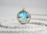 Pokemon Shiny Xerneas Pokeball Pendant Necklace