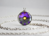 Pokemon Shiny Zoroark Themed Pokeball necklace pendant