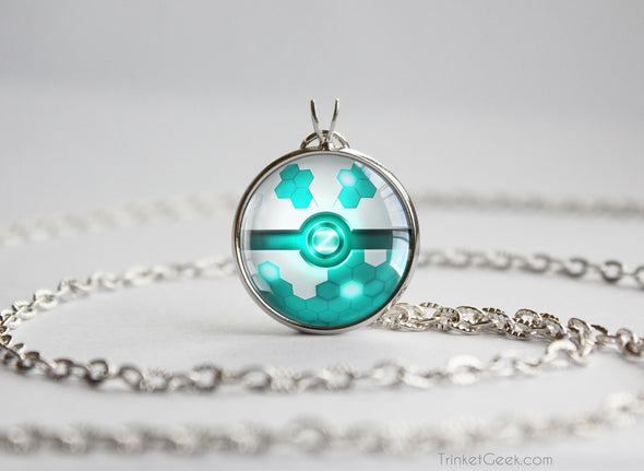 Pokemon Shiny Zygarde Pokeball Pendant Necklace