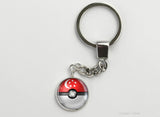 Singapore Flag themed Pokeball Key Chains