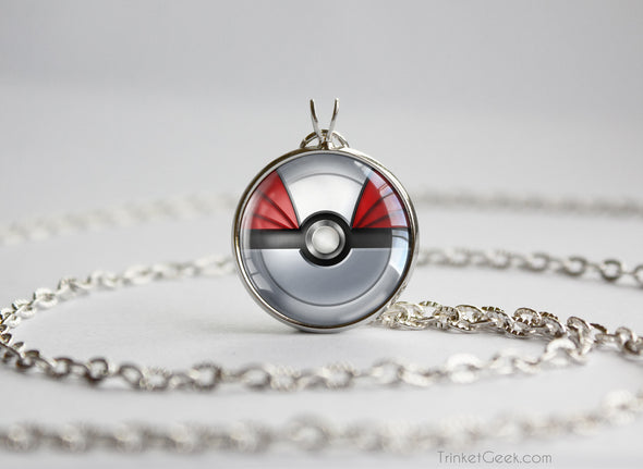 Pokemon Skarmory Themed Pokeball Pendant