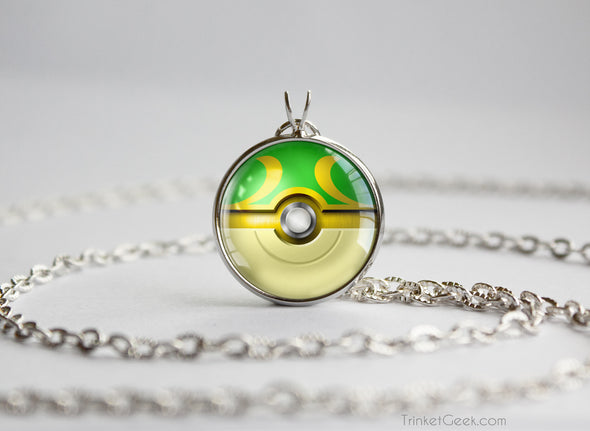 Snivy Pokemon Unova Starter Themed Pokeball pendant