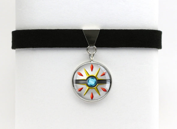 PKMN Solgaleo Pokeball Choker Necklace
