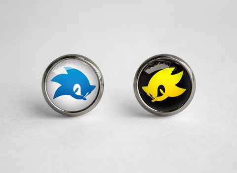 Super Sonic Hedgehog earrings